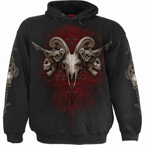 Image of FACES OF GOTH - Hoody Black - Spiral USA