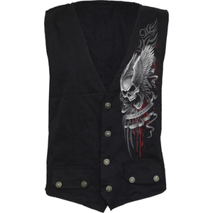 ASCENSION - Gothic Waistcoat Four Button with Lining - Spiral USA