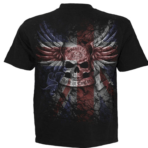 Image of UNION WRATH - T-Shirt Black - Spiral USA