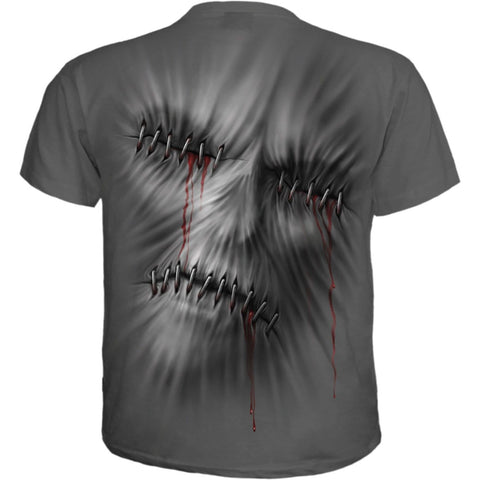 STITCHED UP - T-Shirt Charcoal - Spiral USA