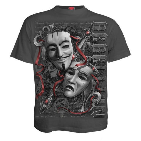 Image of REBELLION - T-Shirt Charcoal - Spiral USA