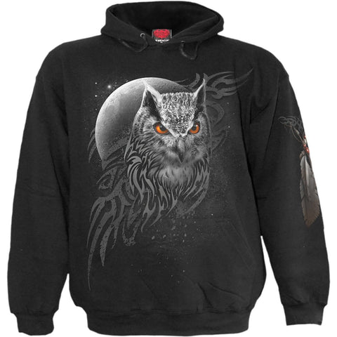 Image of WINGS OF WISDOM - Hoody Black - Spiral USA