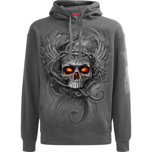 ROOTS OF HELL - Hoody Charcoal - Spiral USA