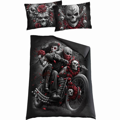 SKULLS N' ROSES - Single Duvet Cover + UK And EU Pillow case