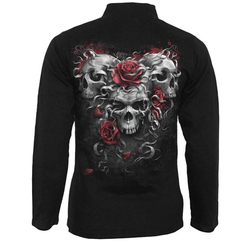 Image of SKULLS N' ROSES - Slant Zip Women Biker Jacket Black - Spiral USA