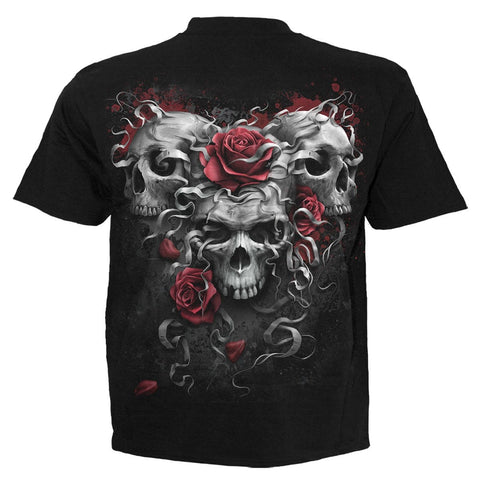 SKULLS N ROSES - Kids T-Shirt Black - Spiral USA