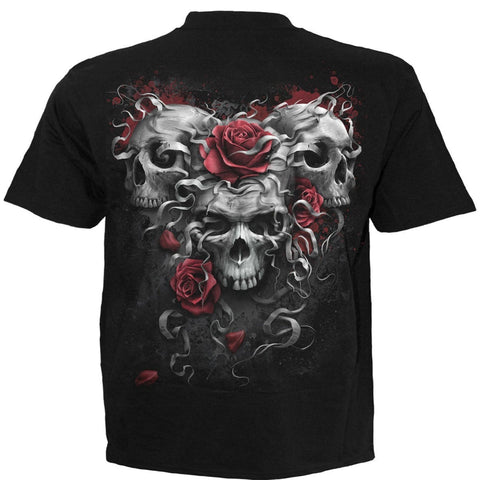 Image of SKULLS N ROSES - T-Shirt Black - Spiral USA