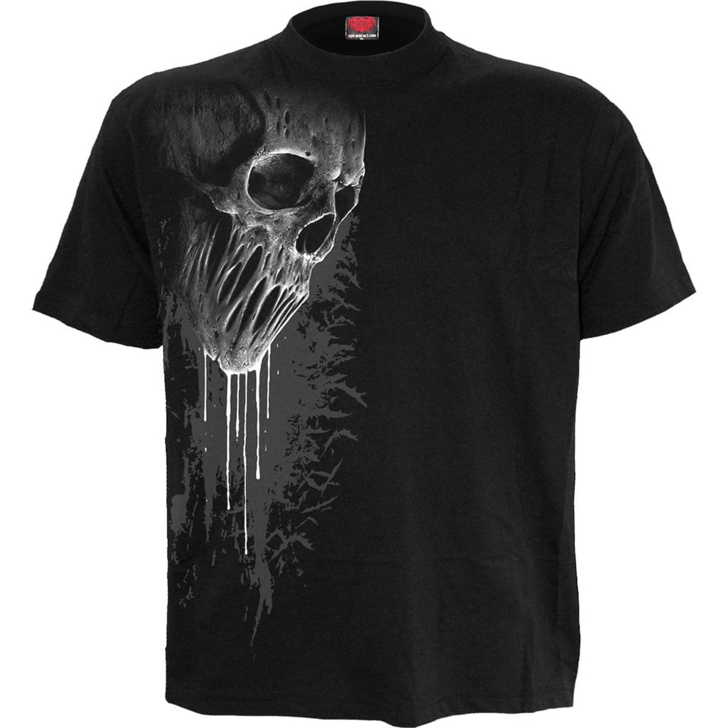 BAT CURSE - Front Print T-Shirt Black - Spiral USA