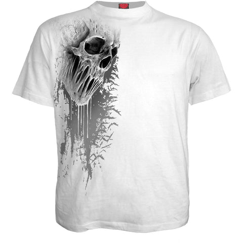 Image of BAT CURSE - Front Print T-Shirt White - Spiral USA