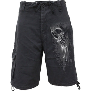 BAT CURSE - Vintage Cargo Shorts Black - Spiral USA