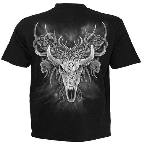 Image of HORNED SPIRIT - T-Shirt Black - Spiral USA