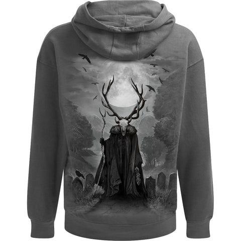 Image of HORNED SPIRIT - Hoody Charcoal - Spiral USA