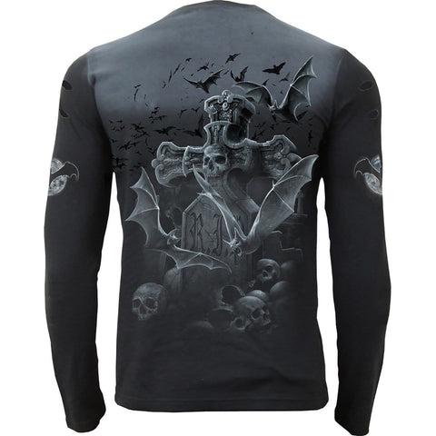 Image of NIGHTSHIFT - Distressed Spray On Long Sleeve - Spiral USA