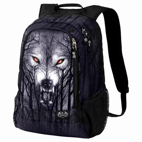 FOREST WOLF - Back Pack - With Laptop Pocket - Spiral USA