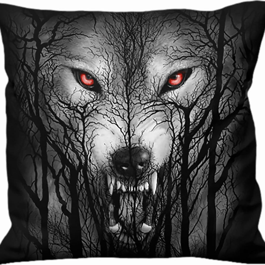 FOREST WOLF - Square Cushion - Spiral USA