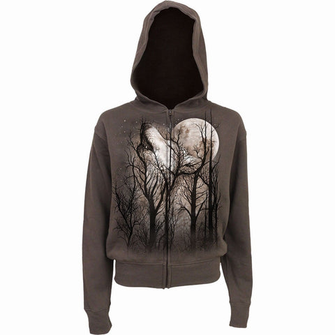 FOREST WOLF - Full Zip Hoody Chocolate - Spiral USA