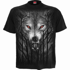 FOREST WOLF - T-Shirt Black - Spiral USA