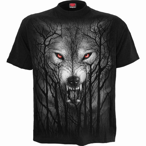 Image of FOREST WOLF - T-Shirt Black - Spiral USA