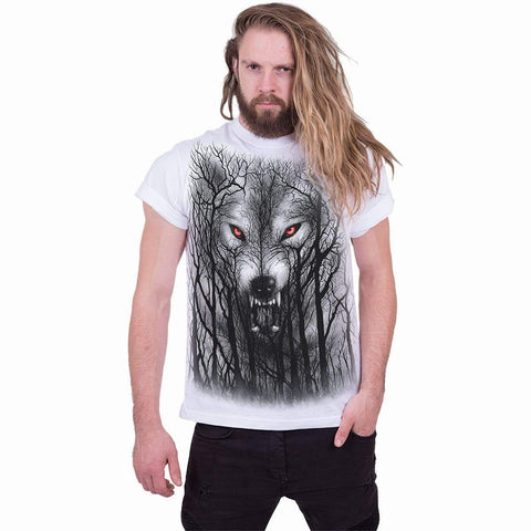 FOREST WOLF - T-Shirt White - Spiral USA