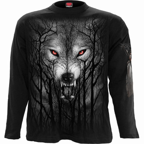Image of FOREST WOLF - Longsleeve T-Shirt Black
