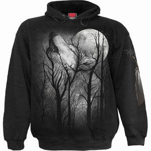 FOREST WOLF - Hoody Black - Spiral USA