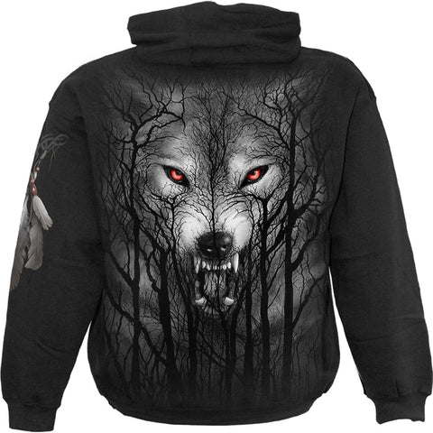 FOREST WOLF - Hoody Black
