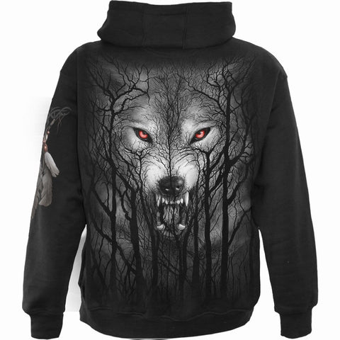 FOREST WOLF - Full Zip Hoody Black - Spiral USA