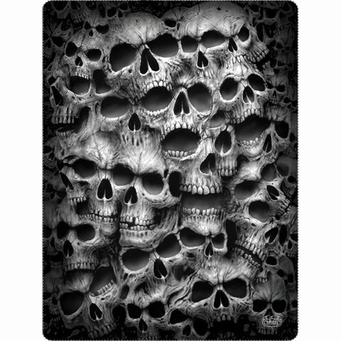 TWISTED SKULLS - Fleece Blanket with Double Sided Print - Spiral USA