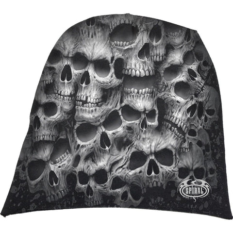 TWISTED SKULLS - Light Cotton Beanies Black - Spiral USA
