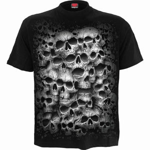 TWISTED SKULLS - T-Shirt Black - Spiral USA