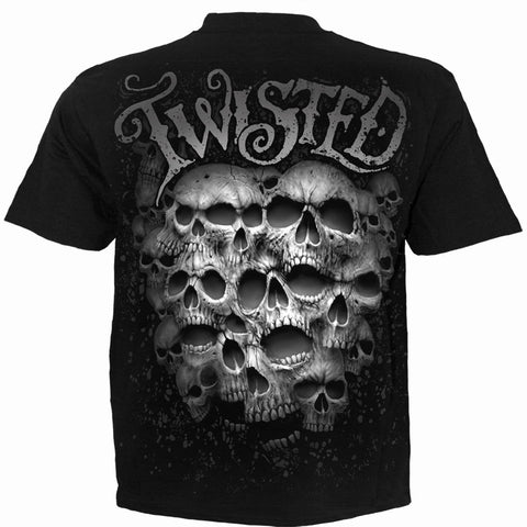 Image of TWISTED SKULLS - T-Shirt Black - Spiral USA