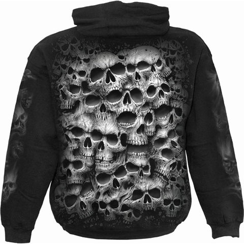 TWISTED SKULLS - Hoody Black - Spiral USA