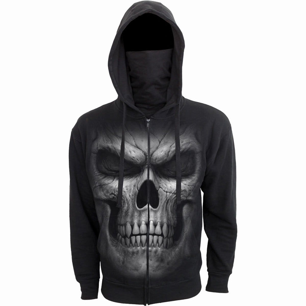 TWISTED SKULLS - 2in1 Full Zip Mask Hoodie - Spiral USA