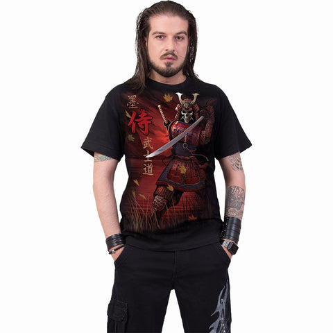 Image of SAMURAI - T-Shirt Black - Spiral USA