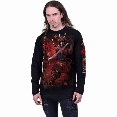 Image of SAMURAI - Longsleeve T-Shirt Black - Spiral USA