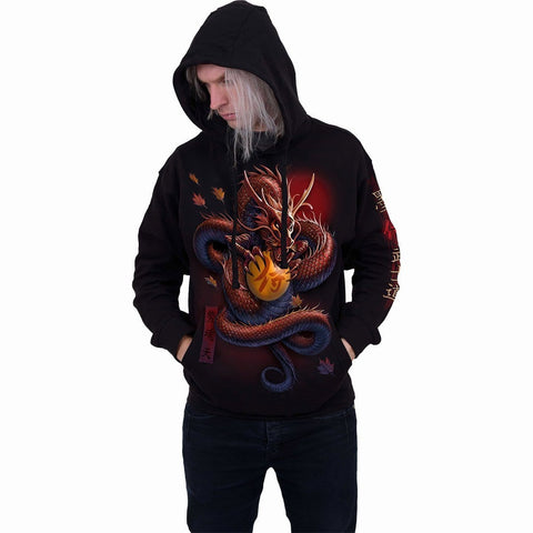 Image of SAMURAI - Hoody Black - Spiral USA