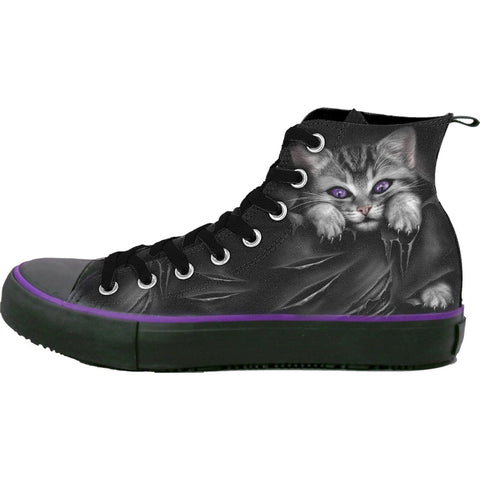Image of BRIGHT EYES - Sneakers - Ladies High Top Laceup - Spiral USA