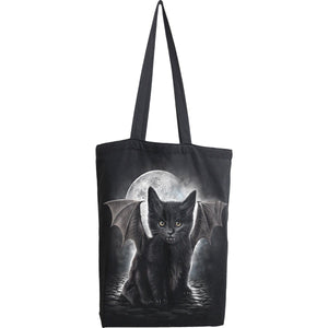 BAT CAT - Bag 4 Life - Canvas 80z Long Handle Tote Bag - Spiral USA