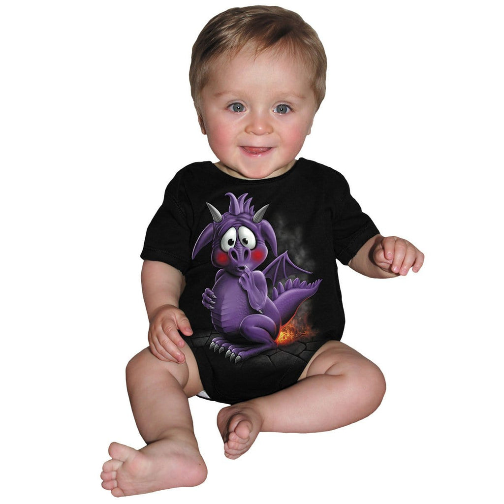 DRAGON RELIEF - Baby Sleepsuit Black - Spiral USA