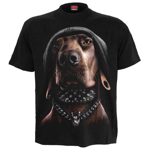 Image of DAWG - Front Print T-Shirt Black - Spiral USA