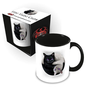 YIN YANG CATS - Ceramic Mug 0.3L - Gift Boxed - Spiral USA