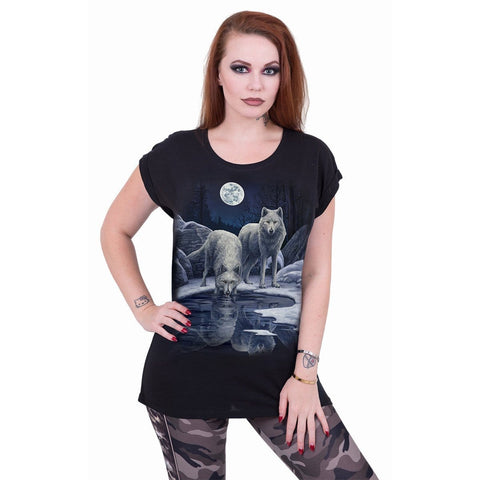 Image of WARRIORS OF WINTER - Turnup Sleeve Loosefit Tee - Spiral USA
