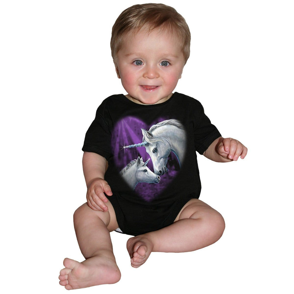 SACRED LOVE - Baby Sleepsuit Black - Spiral USA