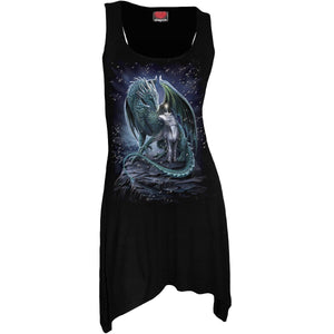 PROTECTOR OF MAGIC - Goth Bottom Camisole Dress Black - Spiral USA