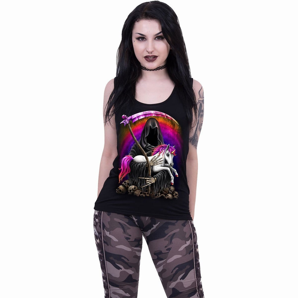 DARK RAINBOW - Razor Back Top Black - Spiral USA