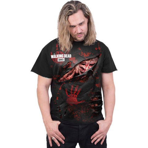 DARYL - ALL INFECTED - Walking Dead Ripped T-Shirt Black - Spiral USA