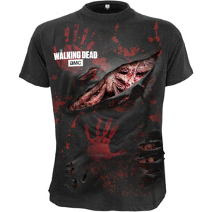 RICK - ALL INFECTED - Walking Dead Ripped T-Shirt Black - Spiral USA
