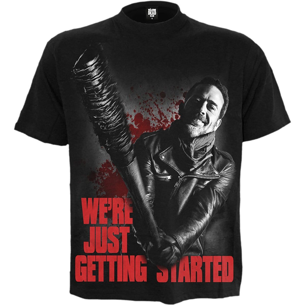 be0997070 NEGAN - JUST GETTING STARTED - Walking Dead T-Shirt Black – Spiral USA
