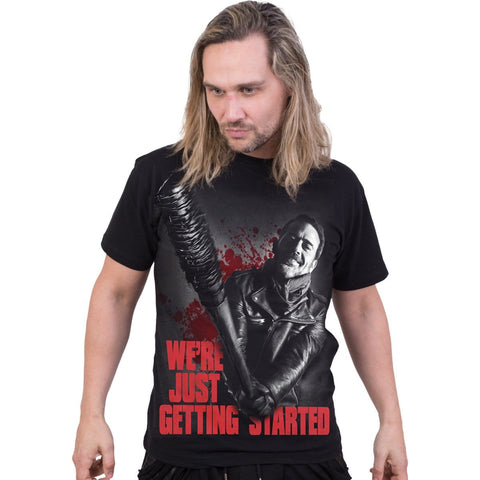 NEGAN - JUST GETTING STARTED - Walking Dead T-Shirt Black - Spiral USA