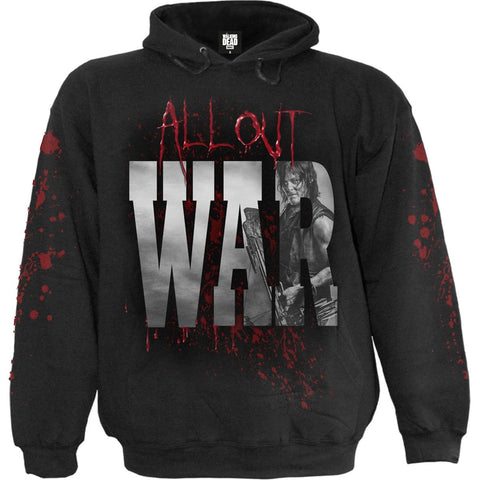 Image of ALL OUT WAR - Walking Dead Hoody Black - Spiral USA